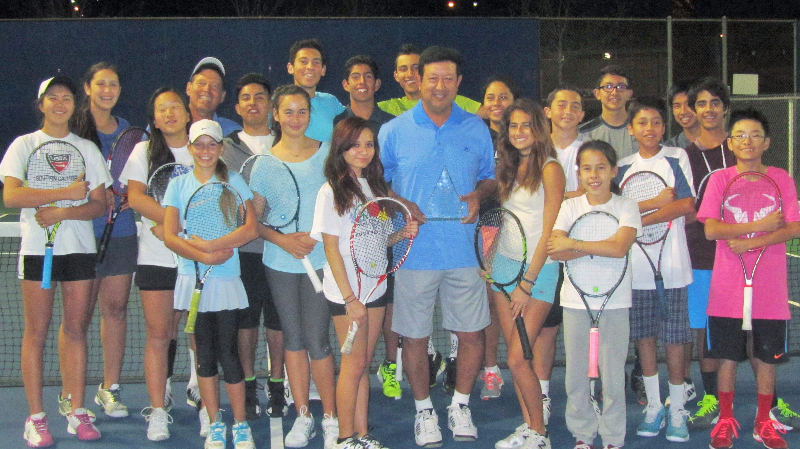 Coach Philip Siordia WIth NJTP Students