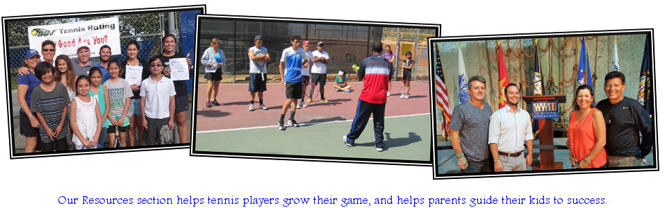 Our Resources section helps tennis players grow their game, and helps parents guide their kids to success.